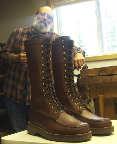 Special order Highland Lace-up Boots Handmade by MacRostie Leathers